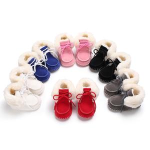Botas de inverno Sapatos de Bebê Meninas Meninos Walker Criança Recém-nascidos Sola Macia Moda Bonito Espólio Infantil Crianças Sapatos Grossos Quentes Crianças