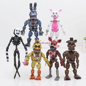 6 pçs / set 12-18 cm Cinco Noites No Freddy FNAF brinquedos Bonnie Foxy Freddy Fazbear Urso mangle Boneca de Brinquedo de Ação Figuras Acessórios Do Telefone
