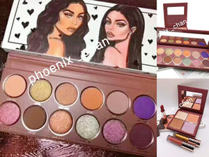 Hot WIFE LIFE ombretto 12 colori 4 colori ombretto Makeup Cosmetic Makeup Collection Bundle Glitters Highlighter Wife Life Set completo