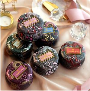 Fleur de thé en verre cas Bougeoir Dorure Tin Multicolor Originalité bonbons Boîte cadeaux cérémonie de mariage Boîtes de rangement 2 6fl gg