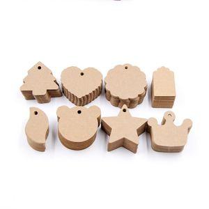 50pcs fai da te etichette di carta kraft marrone pizzo multi forme etichetta bagaglio nota di nozze prezzo vuoto appendere tag kraft confezioni regalo di forniture