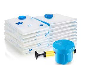 Vacío de bombeo transparente Bolsa comprimida Espesar Ropa Colcha Bolsas de almacenamiento A prueba de polvo Ahorro de espacio Arreglo de empaque Inicio 4 2hf3 R