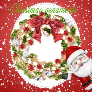 Flores de guirlanda de árvore de Natal broches bowknot pinos de diamante 2018 vendas de jóias de ouro quente 18 K banhado a ouro acessórios do traje