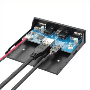 USB 3.1 Tip C Disket Sürücü Paneli 2 Port USB 3.0 Hub 20Pin Kablo ile Ses Portu Şasi Ön Panel