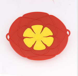 Flower Petal Boil Spill Stopper Silicone Lid Pot Lid Cover Cooking Pot Lids Utensil Pan Cookware Parts Kitchen Accessories
