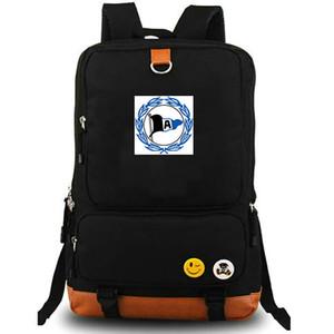 DSC Arminia Bielefeld sırt çantası bir bayrak daypack Futbol kulübü okul çantası Futbol takım sırt çantası Tuval okul çantası Açık gün paketi