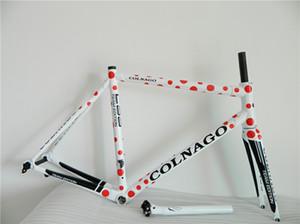 Красный Colnago C59 дорожного велосипеда Рама полного углеродного волокна велосипед рама C60 с BB68 Рама + подседельный + вилка + зажим + гарнитура