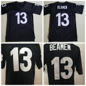 Mens Moive An jedem verdammten Sonntag 13 Willie Beamen Fußballjerseys Günstige 13 Willie Beamen Schwarz genähte Footballl Shirts