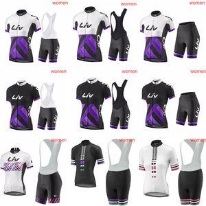 LIV 여름 여자의 사이클링 유니폼 MTB 자전거 셔츠 앞치마 반바지 세트 레이싱 의류 승마 의류 자전거 톱과 짧은 로파 ciclismo C3011