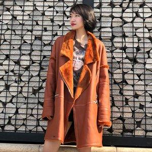 EI BAWN 2018 Winter Genuine Leather Coats for Women Plus Size Oversize Lamb Korean Lady Sheep Shearling Jacket Fur Coat