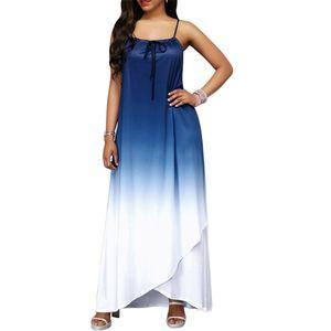 A60657 women Casual Dres Ligas europeas y americanas Gradient Loose Bohemian Skirt Ropa de mujer