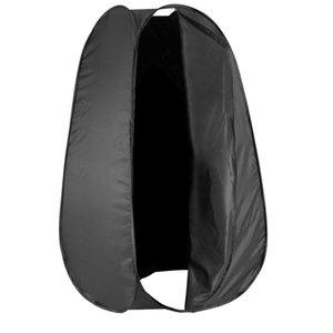 Großhandel 6 Füße / 183 cm Portable Indoor Outdoor Fotostudio Pop-Up Changing Dressing Fitting Zelt Zimmer mit Tragetasche schwarz