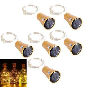Solar Powered Wine Bottle Lights 10 LED Bright Solar Lamp Bottles Cork Light LED Copper Wire String For Christmas Party Wedding Halloween