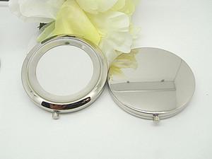 Yeni cep aynası Gümüş boş kompakt aynalar için Mükemmel DIY kozmetik makyaj aynası Düğün Parti Hediye DHL freeshippping