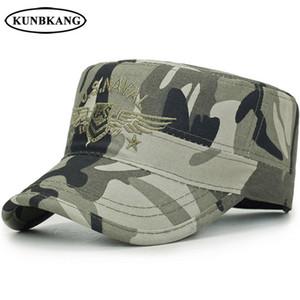 새로운 브랜드 Camo Army Snapback Cap 남성 전술 미국 해군 씰 야구 모자 자수 뼈 뼈 스포츠 위장 썬 플랫 탑 햇