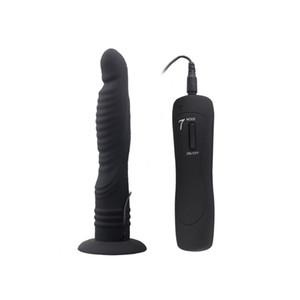 7 modu G-spot dildo vibratör enayi mastürbasyon am ile ekleme vibe vajina masaj yetişkin seks oyuncakları kadınlar için pembe siyah AFL-hc84017