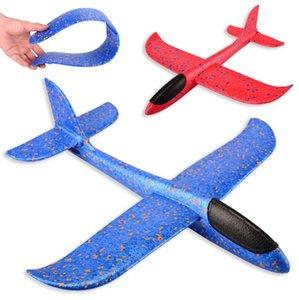 48 CM Köpük Atma Planör Uçak Atalet Uçak Oyuncak El Fırlatma Uçak Modeli Çocuklar Oyuncak Hediye Dekompresyon Oyuncak Uçak 3 Renkler 100 adet
