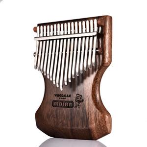 17 Chave Kalimba Calimba Mbira Sólido Preto Sândalo Corpo Kalimba Mbira Polegar Piano c / Soft Bag Popular Teclado Piano Instrumento