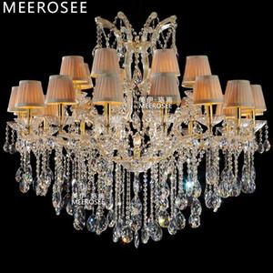 Grand lustre en cristal d'appareil d'éclairage de lustre classique allumant la lampe en cristal pour le foyer, lobby, lampe suspendue de la villa 24