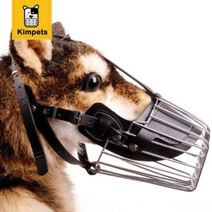 KIMHOME PET Starke Metall Drahtkorb Hundemaulkorb Design Anti-beißende Anpassung Straps Maske Chew Maulkörbe Kostenloser Versand XXL