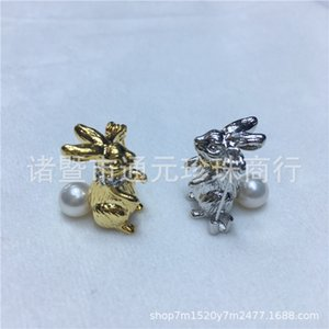 Moda Nuevo Patrón Serie Spoil Lovely Small Rabbit Perla de agua dulce 6-7 Broche de perla Diny Dinastía Shang Razón A911
