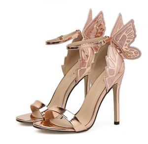 Sophia Big Borboleta Sapatos De Casamento Da Noiva Sexy High Heels Prom Party Desgaste Do Tamanho 35 A 40