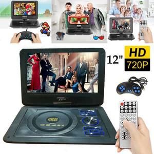 "12 ""pulgadas DVD portátil EVD Player 9.8"" Pantalla giratoria SD FM TV USB SD Juegos JPG Picture Radio Pantalla LCD giratoria"