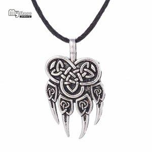 My Shape Viking Wolf Pendant Collane Pendenti Uomini Nordic Runes Viking Choker Orso Charm Collana con ciondolo Donna