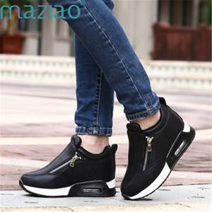Stiefel Frauen Casual Rundkopf Komfortable Seitlichem Reißverschluss Erhöhen Innerhalb Vintage Schnee Stiefel Frauen Wasserdichte MAZIAO