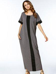 Casual Maxi vestito musulmano T-Shirt Plus Size Abiti Abaya Loose Style Ramadan Arabo Long Robes Abbigliamento islamico turco di preghiera