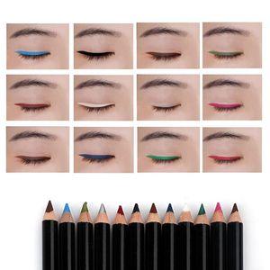 12 Cores / set Eye Make Up Delineador Lápis Menow Impermeável Lábio Beleza Caneta Eye Liner Cosméticos Olhos Maquiagem Cosméticos