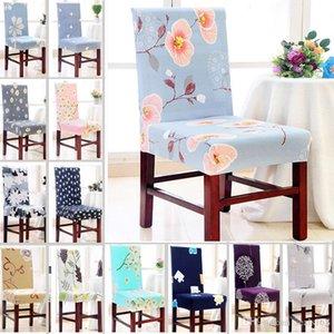 Housse de chaise Amovible Lavable Élastique Stretch Slipcovers Salle À Manger Chaise Housse Protecteur Siège Pour Banquet De Noce WX9-702
