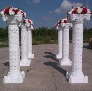 عمود جوفاء زهرة تصميم الأعمدة الرومانية اللون الأبيض أعمدة بلاستيكية الطريق استشهد الدعائم لوازم الزفاف الحدث الديكور WT075