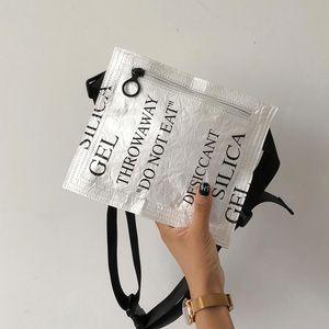 2018 New Bevel Satchel Bag Personal trocknendes Dupont Papier Chest Tasche Hüfttasche Gürteltasche Stylist Männer Hüfttasche Weiß Taschen