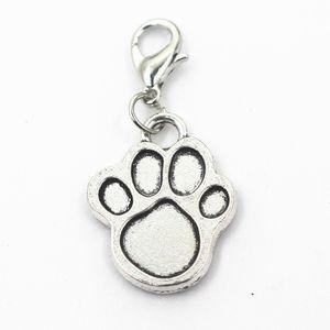 50pcs / lot patte de chien dames charms fermoir mousqueton suspendu charmes pendentif / bracelet bricolage bijoux accessoires