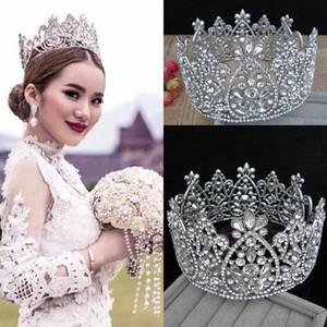 Luxury Bridal Crown Big Rhinestone Crystals Royal Wedding Queen Crowns Princess Crystal Baroque Birthday Party Tiaras Quinceaner Queen