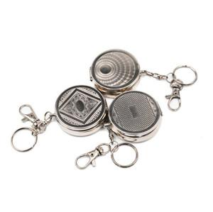 Mini portacenere rotondi per esterni Portachiavi Portaceneri in metallo portatili Custodia per tasca in acciaio inossidabile Accessori per tubi da fumo Accessori all'ingrosso