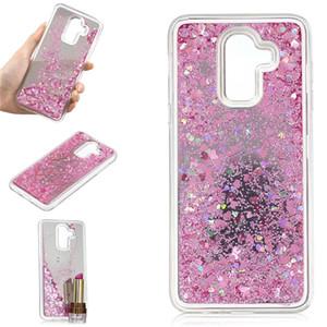 Capa para samsung galaxy j8 2018 case quicksand flash glitter em pó espelho casos de telefone duro cobre para galaxy j8 2018