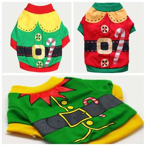 Собаки Одежда Coat Pet Одежда собак Рождество и Hallowee Подарки Собака одежды Мультфильм Letters Printed с капюшоном Толстовка футболку DHL Free