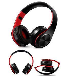 Складная красочные беспроводные наушники портативный стерео аудио Mp3 bluetooth-гарнитура наушники с микрофоном поддержка SD FM бесплатная доставка