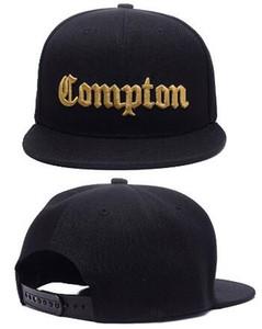 Venta caliente de la Navidad 2018 Moda SSUR Snapback Compton sombreros negros para hombre de las mujeres de la moda de los snapbacks ajustables gorras, de alta calidad casquillo del sombrero de la calle