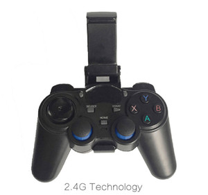 10pcs 2.4G Wireless Game Controller Gamepad Joystick mini keyboard remoter for universal TV box and Smartphone with phone stand