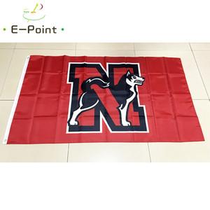 NCAA северо-восточный лайки команда полиэстер флаг 3 фута * 5 футов (150 см*90 см) флаг баннер украшения летающий домашний сад открытый подарки