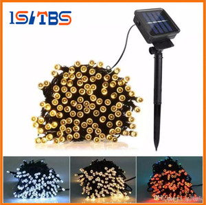 Noël conduit guirlande lumineuse 100 LED 200 LED extérieur 8 Modes solaire alimenté guirlande lumineuse fête de Noël lampe de fée 12m 22M