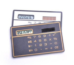 Calculatrice scientifique portable Style de carte bancaire Calculatrice de poche Mini calculatrice de stockage de portefeuille pour la papeterie c665