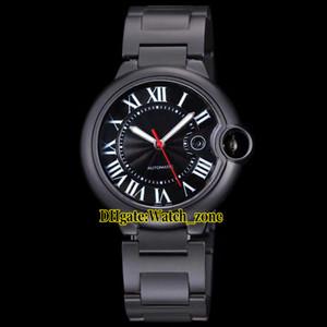 Neue 42mm Datum WSBB0015 Schwarzes Zifferblatt Automatische Herrenuhr PVD Schwarz Stahl Armband Saphirglas Hohe Qualität Herren Sportuhren