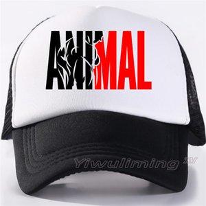 Uomini Animal GYM Maglia Trucker Caps Animal Fan Fitness Print Black Mesh Cap Bodybuilding Muscoli Sport Caps Hat For Men
