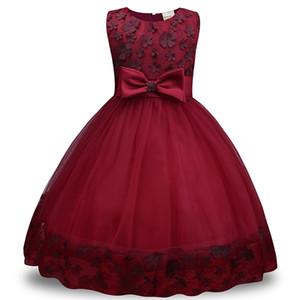 Verão flor menina dress princesa traje vestidos de festa girl wear tulle crianças crianças dress formal party dress 5-9y