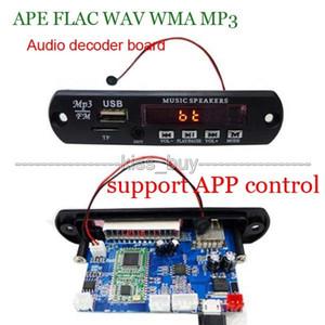 Freeshipping Bluetooth 4.0 MP3 scheda di decodifica modulo digita lLED 12V APE FLAC WAV DAE Decoder lettore MP3 radio FM AUX controllo app telefono
