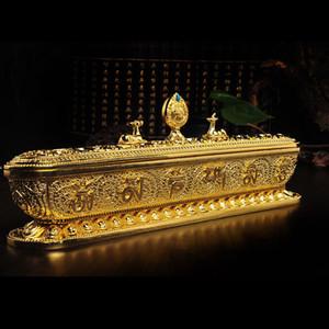티베트 티베트 불교 부처님 합금 OM 8 Symbols incense powder 버너 홀더